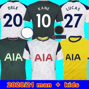 20 21 KANE SON Bergwijn NDOMBELE de Futebol 2019 2020 2021 LUCAS SPURS camisa kit DELE TOTTENHAM do jérsei do futebol homens e crianças SETS KIT