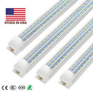 V-Shaped Integrate T8 LED Tube 2400MM 4 8 ft Feet LED Fluorescent Lamp 4ft 60W 8ft 120W LED Light Tubes Cooler Door Lighting