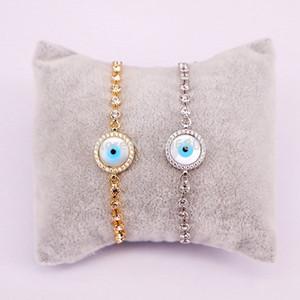 10PCS Zyunz Bijoux Shell Charm Ronde Micro Pave Zircon Eye Bracelet Shell pour Femmes Hommes réglable Chain Link Bracelets Bangle