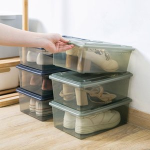 New Plastic Case for Shoes Transparen Holder Sundries Organizer Container Shoes Protection Box with LId
