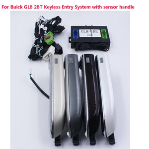 Remote Keyless GO System PKE Car Alarm Central Lock Kit With Window Roll Up Car Door Lock For GL8 28T