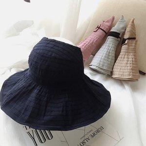 Rm1RE yaz Kepçe balıkçı şapka erkek kapsayan tüm maç yüze açık fe UV koruması dişi güneş yaz güneş şapkası toque