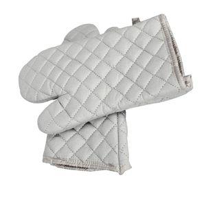 Grau Cotton Ofen Hot Mitts - 1 Paar Professionelle Heat Resistant-Topf-Halter Backhandschuhe - Food Safe.
