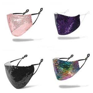 Женщины Девушки Защитная вечеринка Ночной клуб Маска для лица # 488 Sequins DesignerFace Magic Cosplay Show Fancy Mask GSTAF