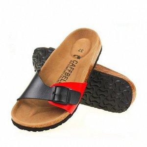 2017 New Fashion Unisex Summer Cork Sandals Women Casual Beach Mixed Color Flip Flops Valentine Slippers Hot Sale R917#