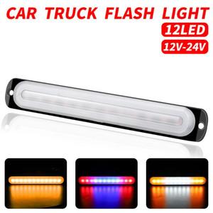 New 12V   24V 36W Flash LED Side Marker Lights Car External Lights Warning Tail Light Auto Trailer Truck Lorry Lamps White Amber