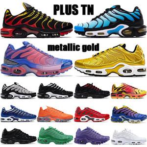 Плюс TN OG мужские кроссовки GS хром желтый металлик золото тройной черный белый общий оранжевый серый высокого качества тапок женщин