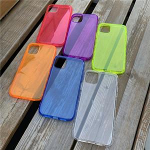 Effacer Neon gros fluorescent bonbons de couleur Cas de téléphone pour iPhone 11 Pro Max X XR XS Max 7 8 Plus SE2 entièrement de protection en silicone souple couverture