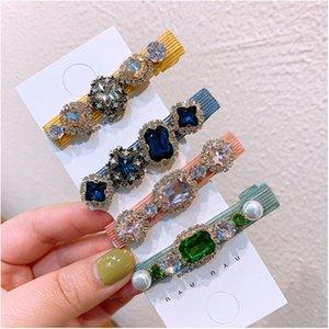 Dvacaman de haute qualité Big perles de cristal cheveux clip femmes Prom Party Simulé Perle Pins cheveux d'été colorés en gros Barrettes