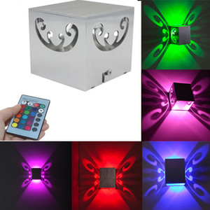 RGB Remote Control 3W LED Butterfly Sconce Wall Lamp Luces Home Club Par Decor Backlight Wandlamp Night Lighting Lampara Lights