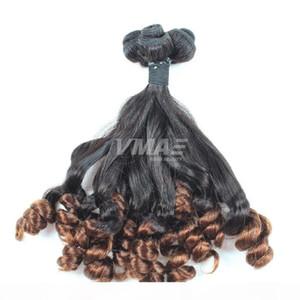 VMAE Top Brazilian Virgin Human Funmi Hair Curly 3 Bundle Deals Brailian Curly Virgin Hair Two Tone Cheap Brazilian Human Hair