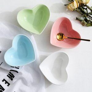 Ceramic hot pot seasoning dish ceramic heart-shaped dish kitchen multi-purpose dish Home Dinnerware Supplies Wholesale EWA1325