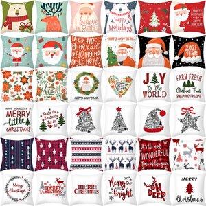 Рождественские украшения Подушка крышки подарка Xmas Наволочка партия украшения С Рождеством 2020 Ноэль Рождество Новый год 2021