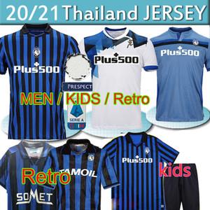 Tailândia Atalanta Soccer Jersey GOMEZ 2020 L.MURIEL Iličić Football Shirt New Third Kit DE ROON DUVAN Retro Atalanta Jersey