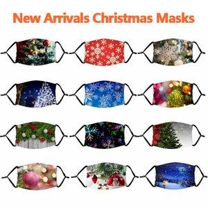 Cadılar Bayramı Kabak sızmasına Palyaço Kafatası Maskeler Noel Noel Baba Noel Geyik Noel Ağacı Filtre ile Karikatür toz geçirmez Maske