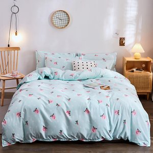 2020 Blue plant natural pattern bed linens bedding set Nature Quilt   Duvet Cover set single queen King sizes bedding