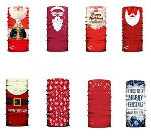 hot Christmas mask 3D digital printing Magic Scarf Santa Claus headband dust and haze face mask Designer Masks DB011