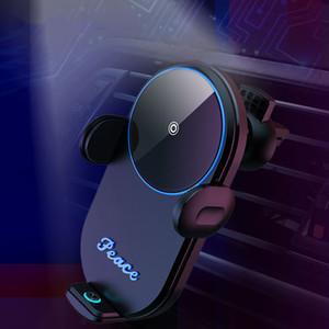 carro V30 carregador sem fio ABS PC Titular automática gravidade Qi sem fio Car Charger Monte carregamento rápido Phone Holder