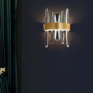 Modern Gold Metal Crystal Wall Light Living Room Dining Room Hotel Home Decor Wall Sconce WA159