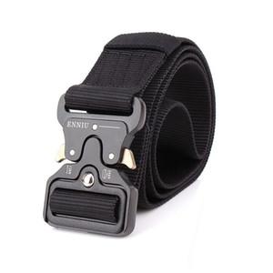 3.8cm Tactical Belt Army Molle Men Outdoor Training Belts High Quality Easy Unlock Metal Hunting Climbing Nylon Belt