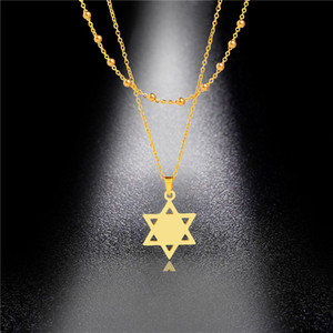 Stainless Steel Snowflake Hollow Light Luxury and Snow Necklace Pendant Clavicle Chain Female Double Set Chain Titanium