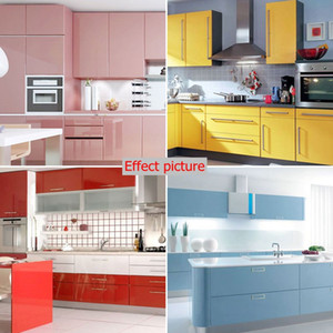 Modern 10m*60cm PVC Self-adhesive Wallpaper Rolls Pearlescent Paint Kitchen Cupboard Cabinet Furniture Renovation Wall Stickers Home Decor