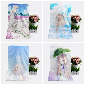 IVYYE 1PCS Anohana forma personalizada Anime Toalhas de banho Lenço Macio toalha de rosto dos desenhos animados Washcloth Unisex NOVO