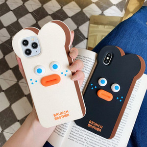 3D Cartoon Cat Case For Apple iphone 11 Pro Max Cute Bear Soft For iphone X XS XR Rabbit Horse Sulley Chips Cover