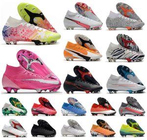 2020 Mercurial Superfly FG CR7 VII SAFARI Rosa Panther para hombre Neymar Ronaldo 7 360 Elite SE Zapatos Niños fútbol Botas de fútbol grapas del US3-11