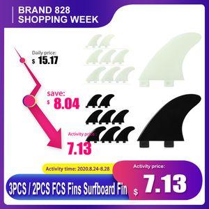 Sports nautiques Surf 3PCS / 2PCS FCS Surfboard Fin Thrusters Palmes en fibre de verre Nylon Tir Surf Fins GL / GX / M5