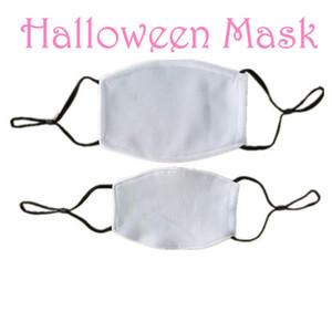 Listo para enviar! Los espacios en blanco sublimación de la mascarilla con filtro de bolsillo puede poner PM2.5 de juntas del oído correas se puede ajustar para impresión por transferencia térmica
