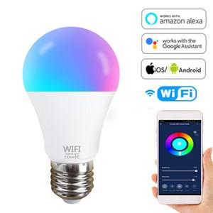 실 개인을위한 램프 음성 제어 알렉사 구글 도우미 100W 상당 장식을 변경 와이파이 전구 E27 B22 110V 220V LED 스마트 전구 RGB