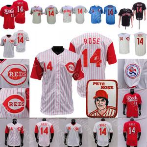 Пит Роуз Джерси 2020 Новый бейсбол человек патч Монреаль Выставок Белый Синий Кремовый Серый Полоски Куперс-город Все прошитой Мужчины Размер M-3XL