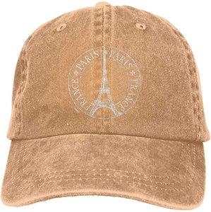 Paris Eyfel Kulesi Spor Denim Cap Ayarlanabilir Snapback Casquettes Unisex Düz Beyzbol Kovboy Şapkası Siyah