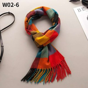New imitation cashmere scarf thickened custom autumn and winter knitted scarf plaid warm men and women shawls wholesale