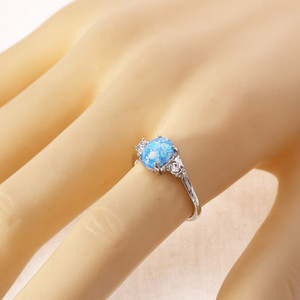 Fashionable Metal Rings White Green Pink Blue Gem Rings Unisex Jewelry jh545