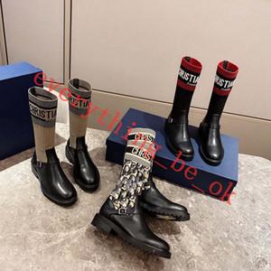 Dior Boots shoes 2019 sexy donna scarpe in autunno e in inverno gli stivali a maglia elastiche Lusso stivali brevi progettista calze stivali grande formato 35-41 tacco alto scarpa