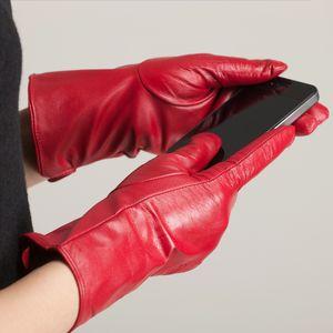 Free Shipping Kursheuel Luxurious Women Nappa Soft Leather Winter knitting lined Warm Gloves Women Gloves Ku-039