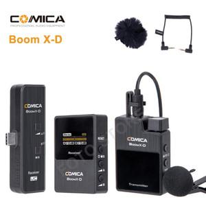 Comica BoomX-D 2.4G Digital Wireless Microfone Transmissor Kit Mini Celular Receptor de microfone para Smartphones mic vídeo