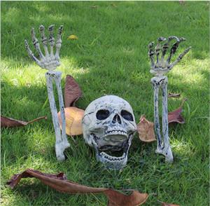 Decorazioni di Halloween Skull mano osso del cranio Puntelli Bar Secret Room spaventoso teschio ornamenti