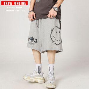 TKPA Shorts Sommer Männer reflektierende nan shi ku Sommer Hip-Hop trendy lose Werkzeug elastische Taillenhosen Smiley Allgleiches Hosen abgeschnitten 47lOd