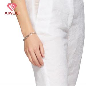 célébrité Internet Xizfa même style de justine clenquet protéine verte bracelet strass bracelet couture strass cochon chaîne nez