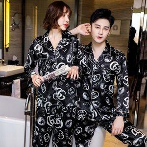 Femmes d'été en soie à manches courtes Pantalons Pantacourt été Simulation mince Pyjama Costume Simulation Silk Pyjama # 802