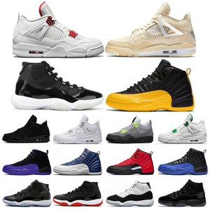 nike air jordan retro Silt Red What The 4 4s Hombres mujeres Zapatillas de baloncesto Cemento blanco Pure Money criado Zapatillas Zapatillas deportivas tamaño 7-13