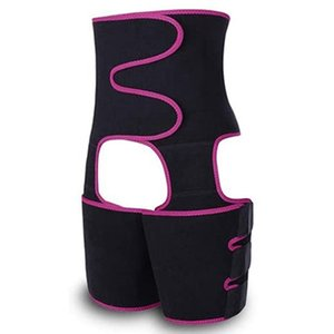 3-In-1 Waist and Thigh Trimmer for Women Body Shaper Waist Train Slimming Support Belt Hip Raise