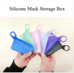 Silicone Mask Storage Box Temporary Storage Clip Waterproof Folded Portable Travel Household Mask Container Creative Organization DDA566