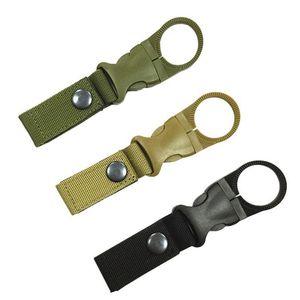 Outdoor Militar Nylon Webbing Buckle gancho de água Garrafa Holder Clip EDC Suba 100pcs Carabiner Belt Backpack Hanger acampamento CCA12533