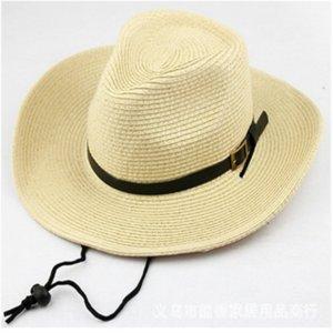 kaE5g Parent-Child-Version Kinder westlichen Cowboy Cowboy Straw Straw Sonne Strand Hut Reisehut