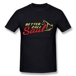 Kleidung CaiTian Herren Better Call Saul Logo-T-Shirt 6286