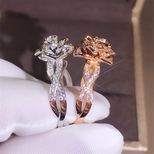 Quality Designer Jewelry Brand Ring Crystal Flower Luxury Rings For Women Wedding Bridal Jewelry Accessories Free Shipping